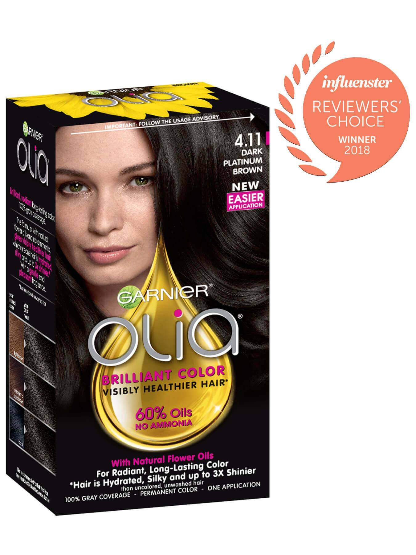 Garnier Olia Packshot Award 4.11 Dark Platinum Brown