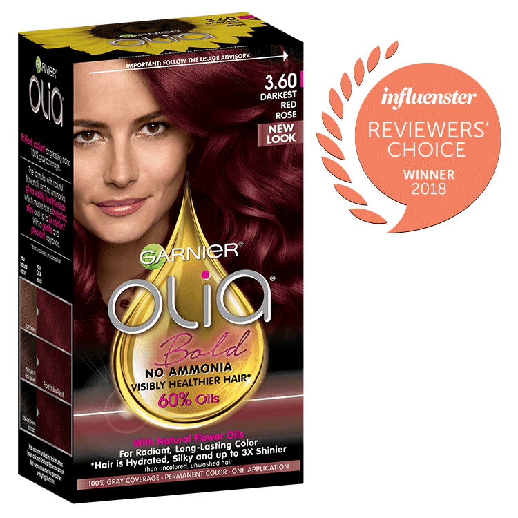 Olia Darkest Red Rose Hair Color Ammonia Free Hair Dye