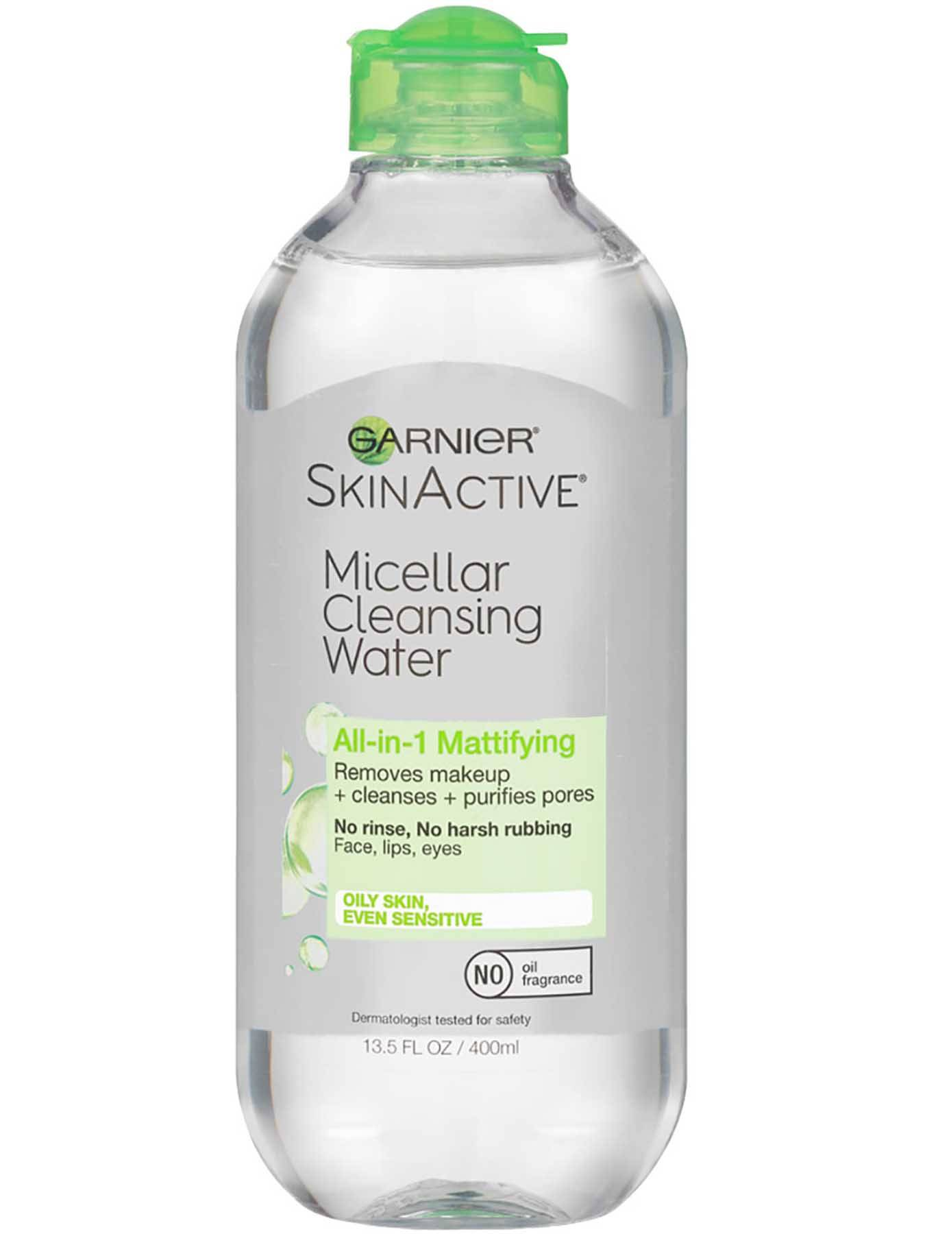 Front view of Green Cap Cleansing Water All-in-1 Mattifying, Oily and Sensitive Skin.