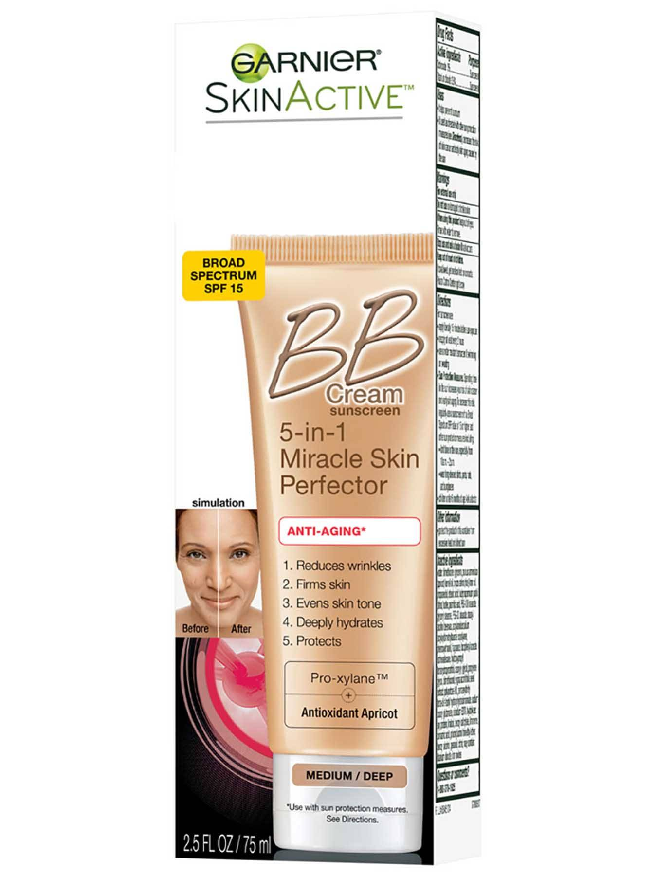 Left Side view of BB Cream Anti-Aging Medium Deep.