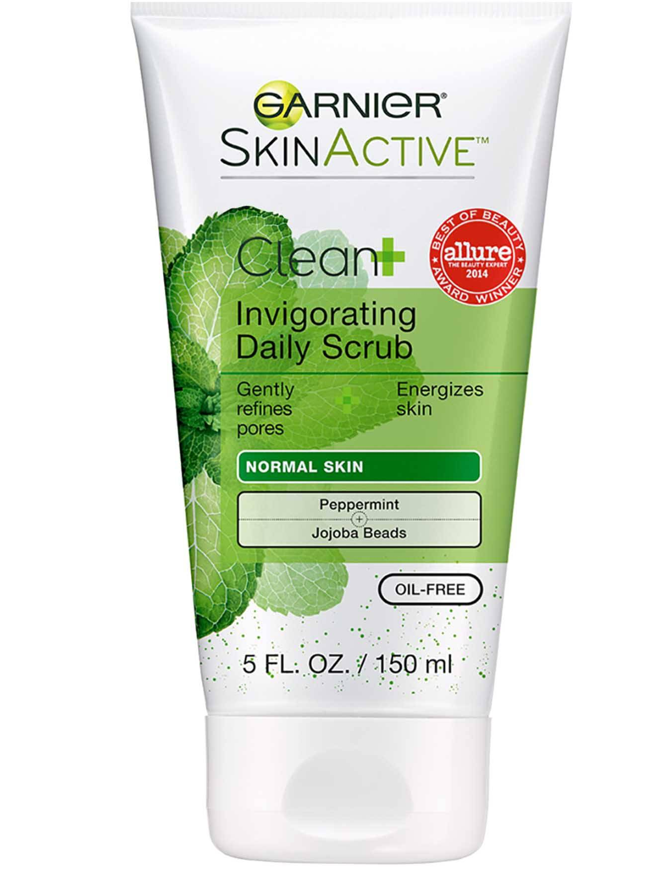 Front view of Clean+ Invigorating Daily Scrub, Normal Skin, Oil-Free.
