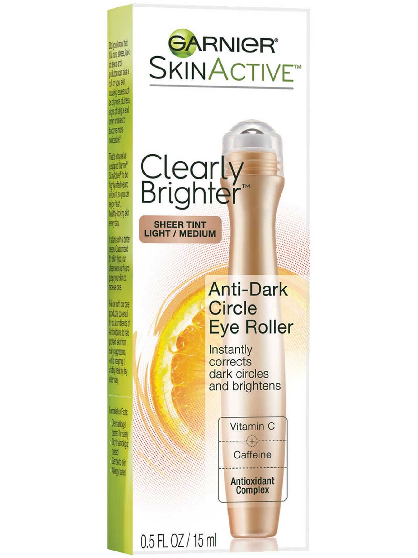 Right Side view of Clearly Brighter Anti-Dark Circle Eye Roller - Light/Medium.