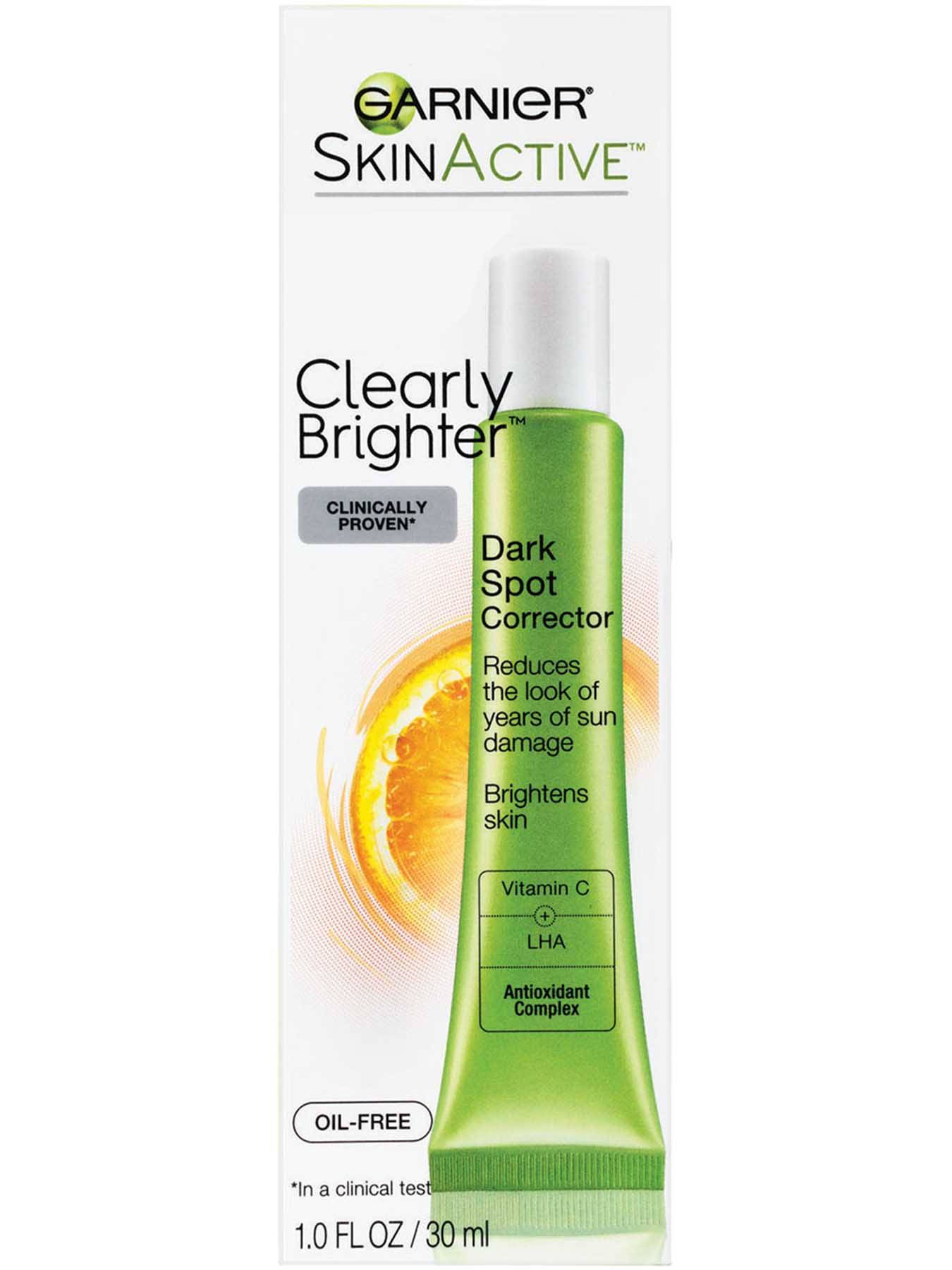 Garnier SkinActive Clearly Brighter Dark Spot Corrector Box Back Of Bottle