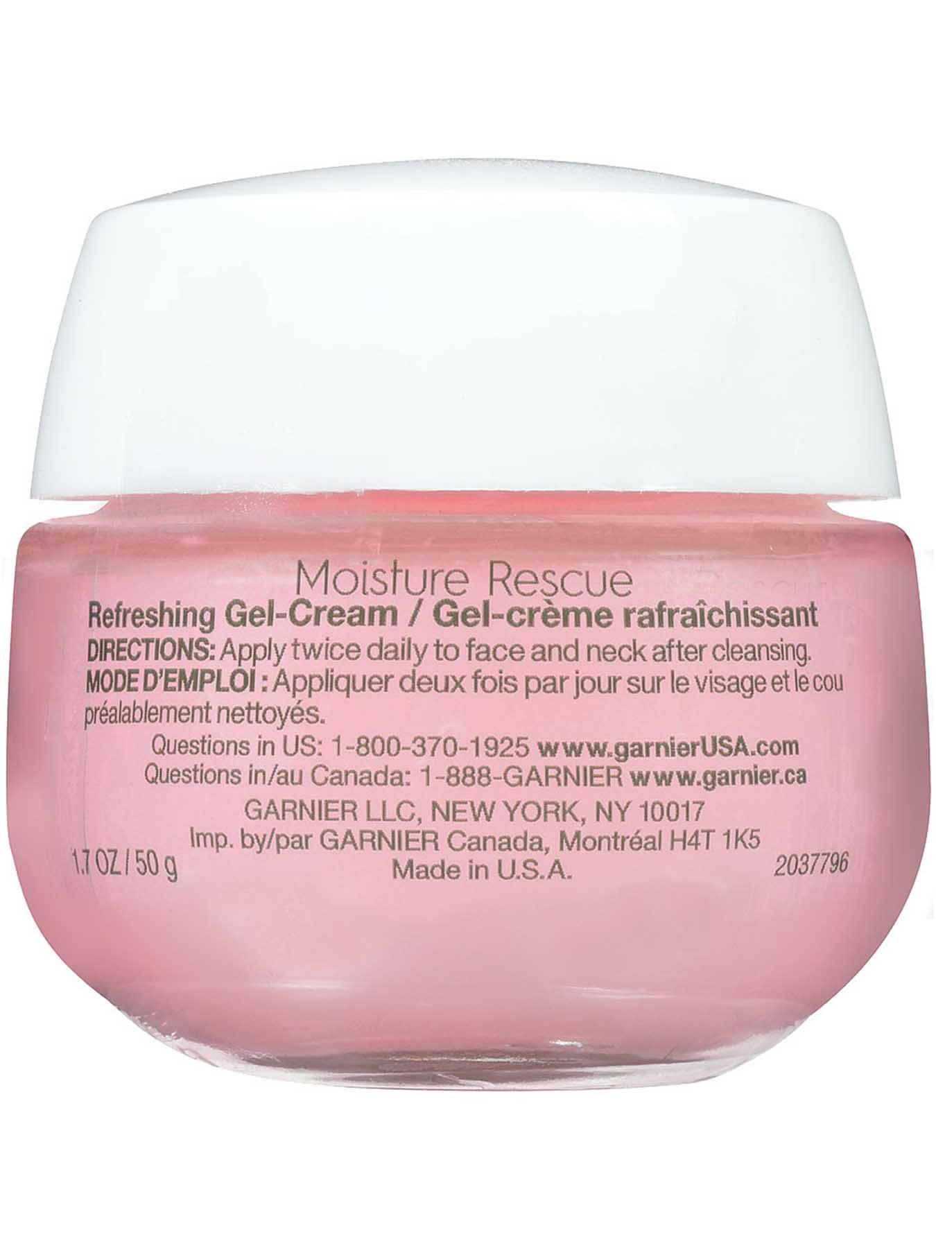 Back view of Moisture Rescue Refreshing Gel Cream, Dry Skin.