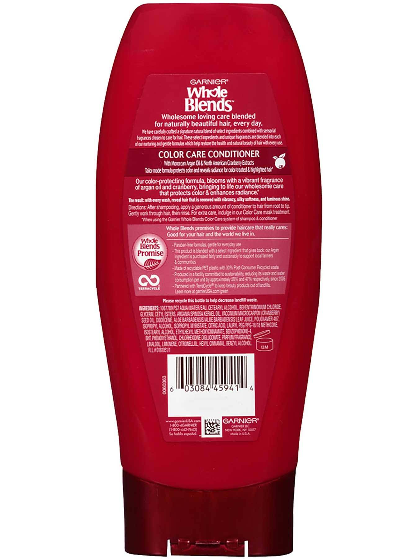 Back view of Color Care Conditioner with Argan Oil and Cranberry Extracts.