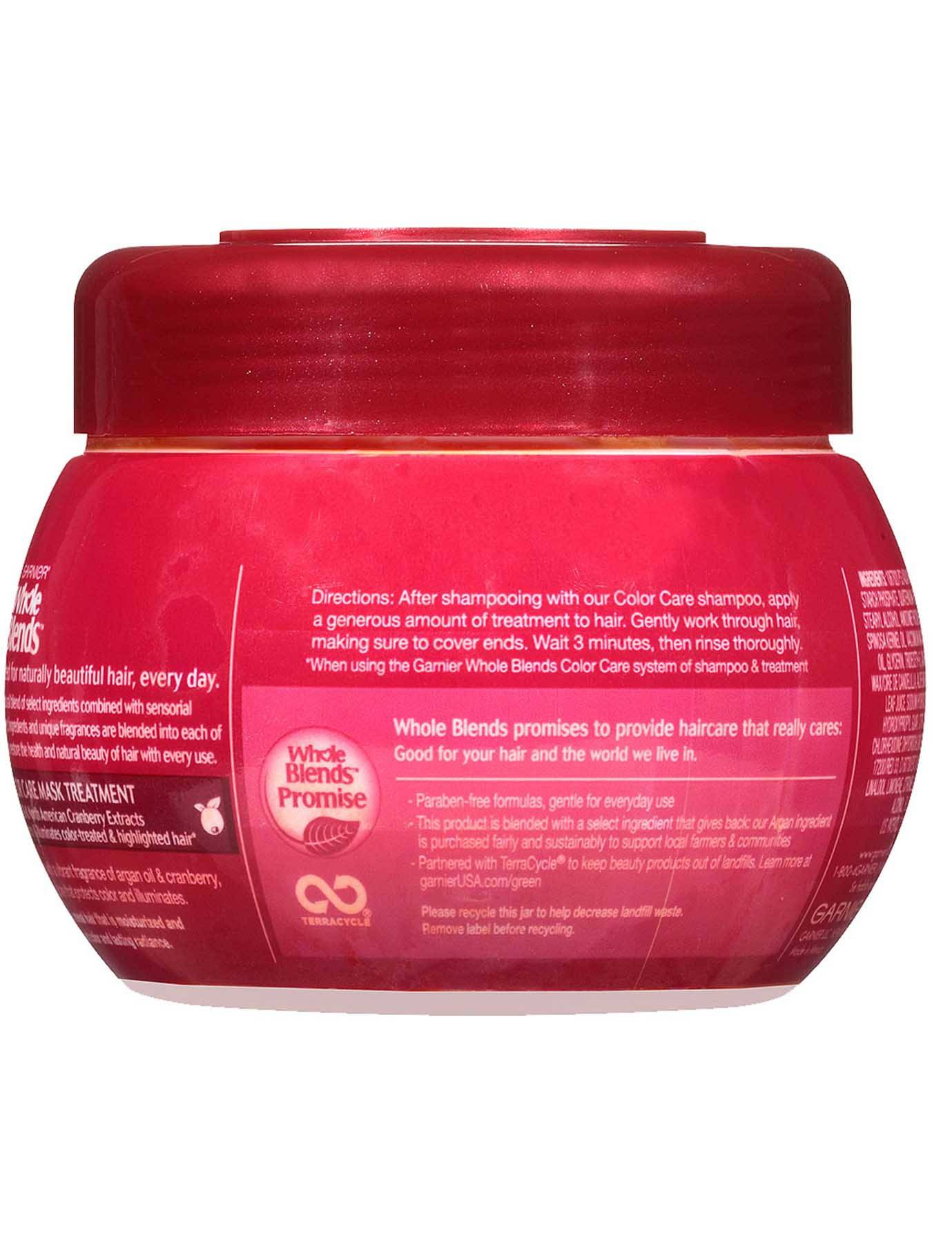 Back view of Color Care Mask with Argan Oil and Cranberry Extracts.