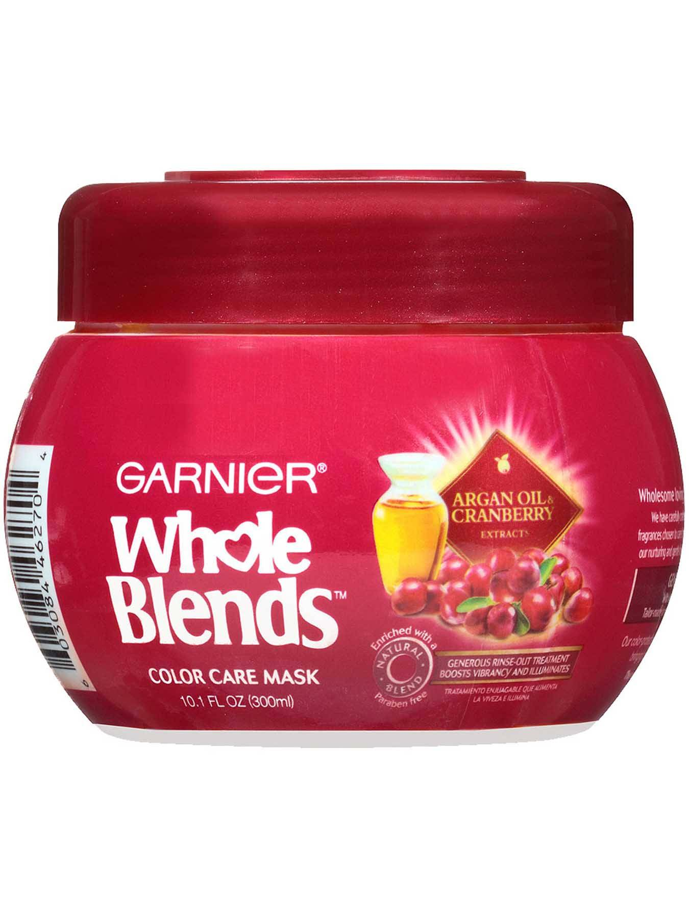 Garnier Whole Blends Color Care Mask Argan Oil Cranberry Extracts Front Of Bottle