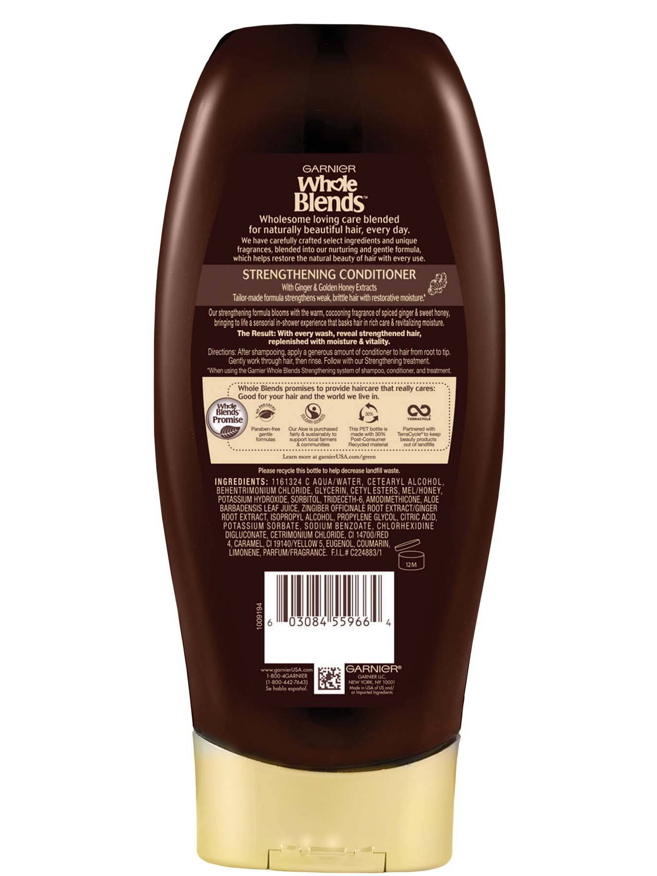 Back view of Whole Blends Ginger Recovery Strengthening Conditioner.