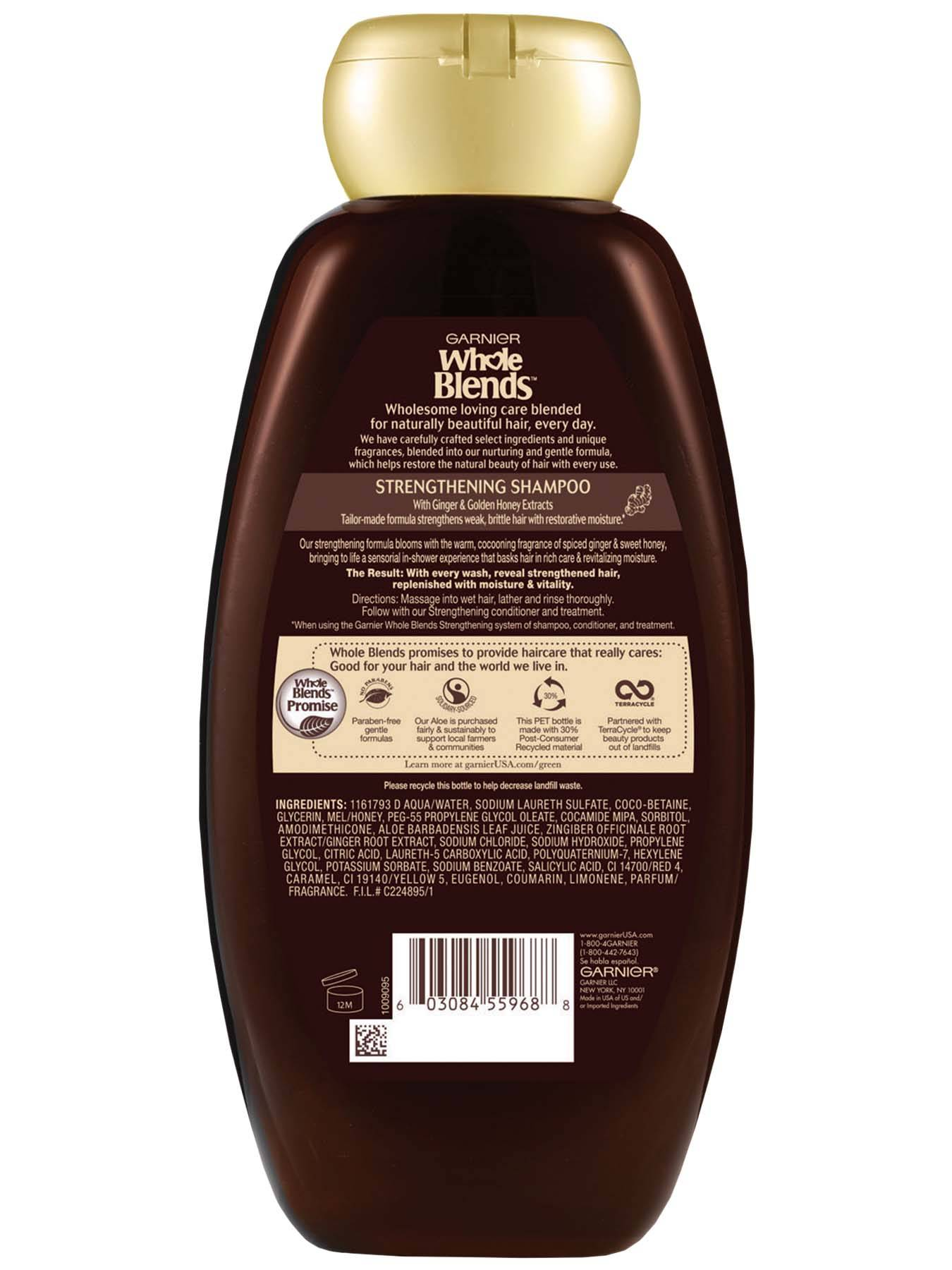 Back view of Whole Blends Ginger Recovery Strengthening Shampoo 22oz.