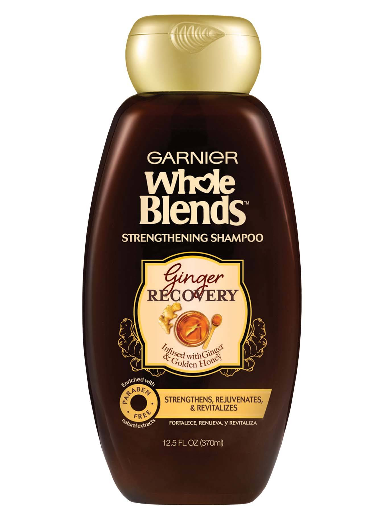 Front view of Whole Blends Ginger Recovery Strengthening Shampoo.