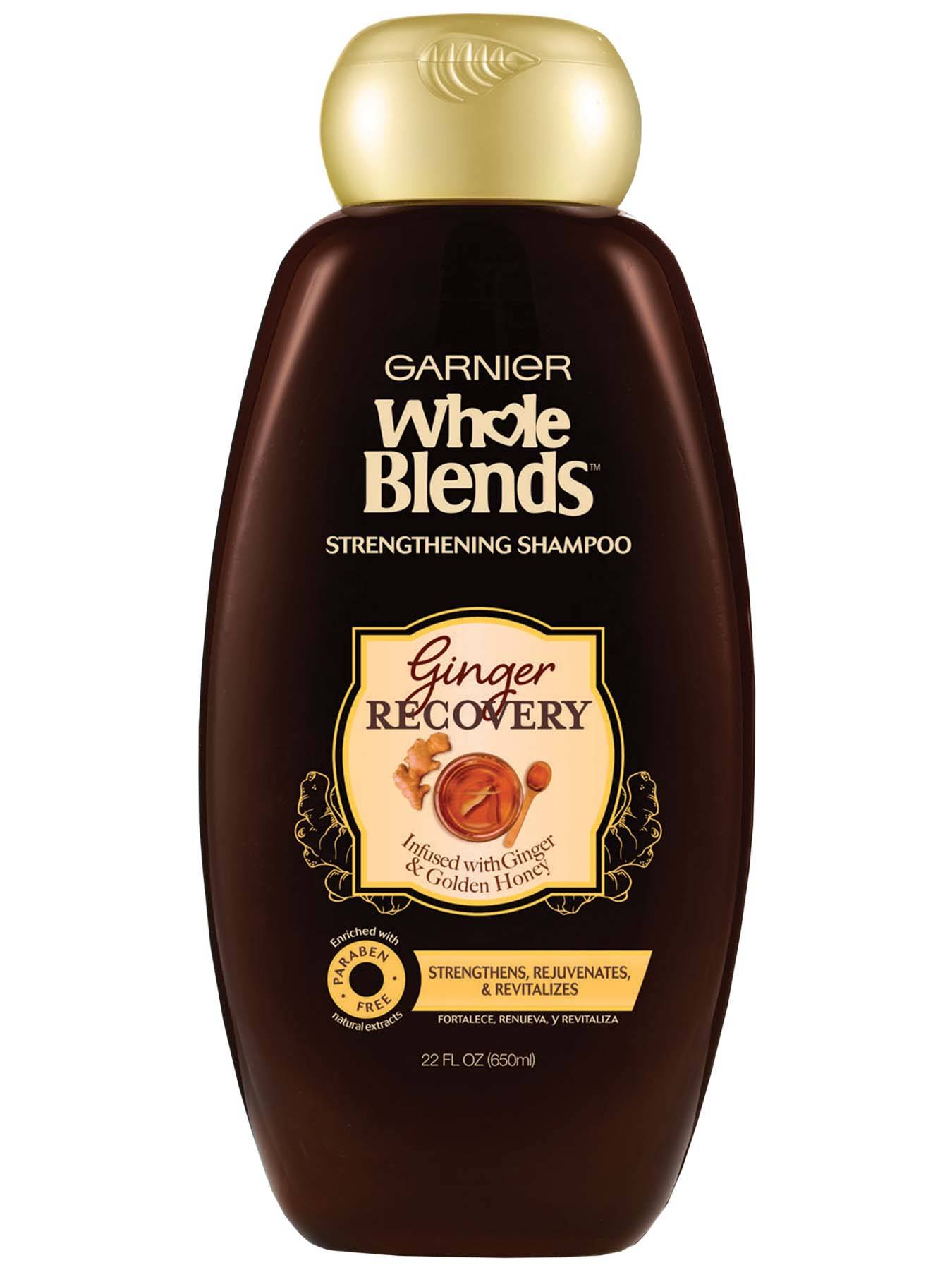 Front view of Whole Blends Ginger Recovery Strengthening Shampoo 22oz.
