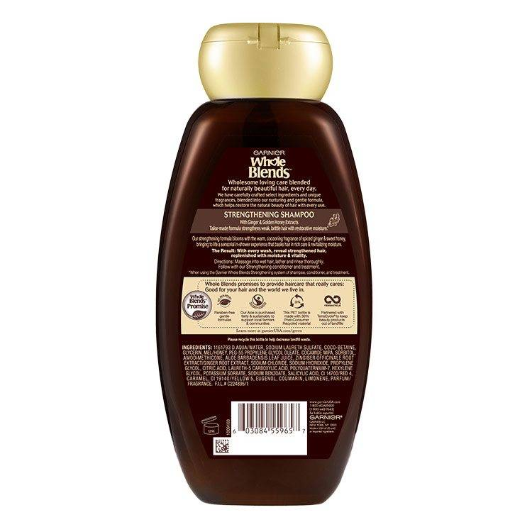 Whole Blends Ginger Recovery Shampoo Back