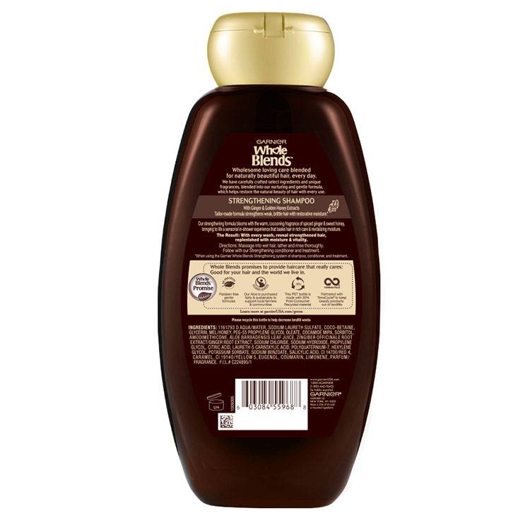 Whole Blends Ginger Recovery Shampoo Back 22 fl.oz