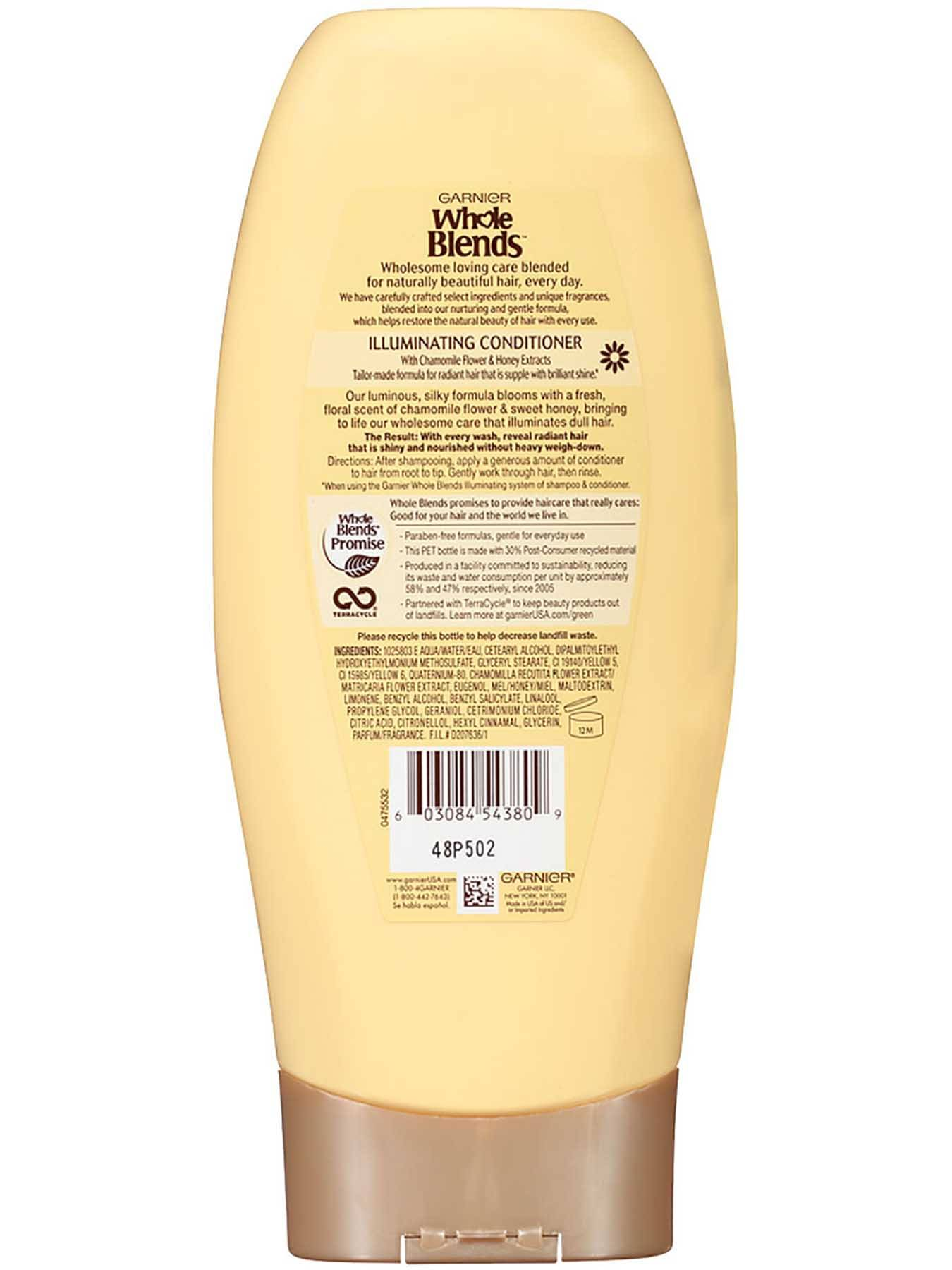 Back view of Illuminating Conditioner with Chamomile Flower and Honey Extracts, Silicone-Free.
