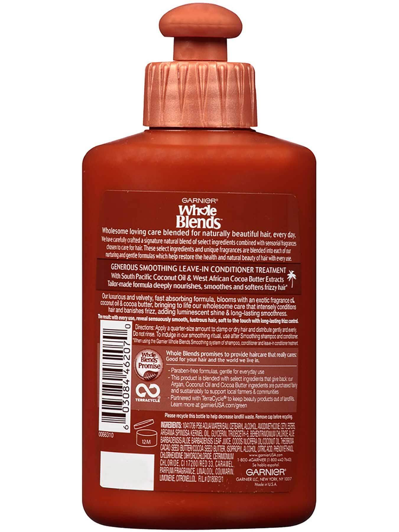 Garnier Whole Blends Smoothing Leave-In Conditioner Coconut Oil Cocoa Butter Extracts