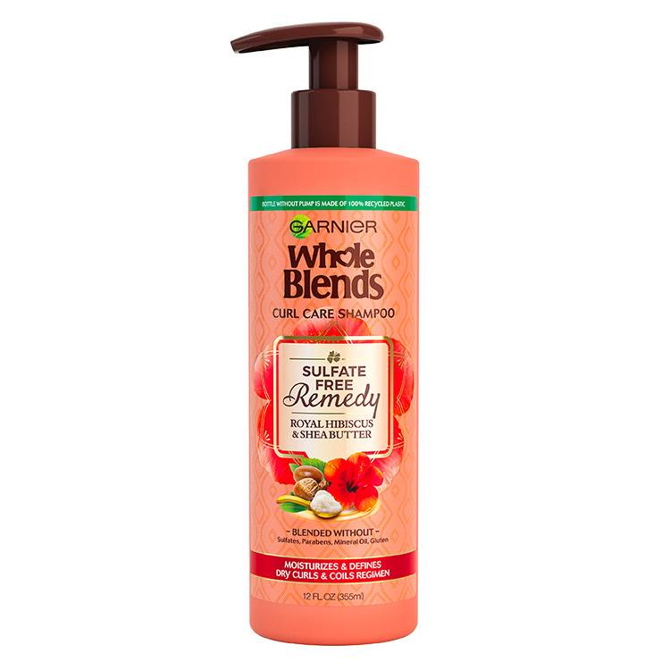 Garnier Whole Blends - Sulfate Free Shampoo Hibiscus - product detail