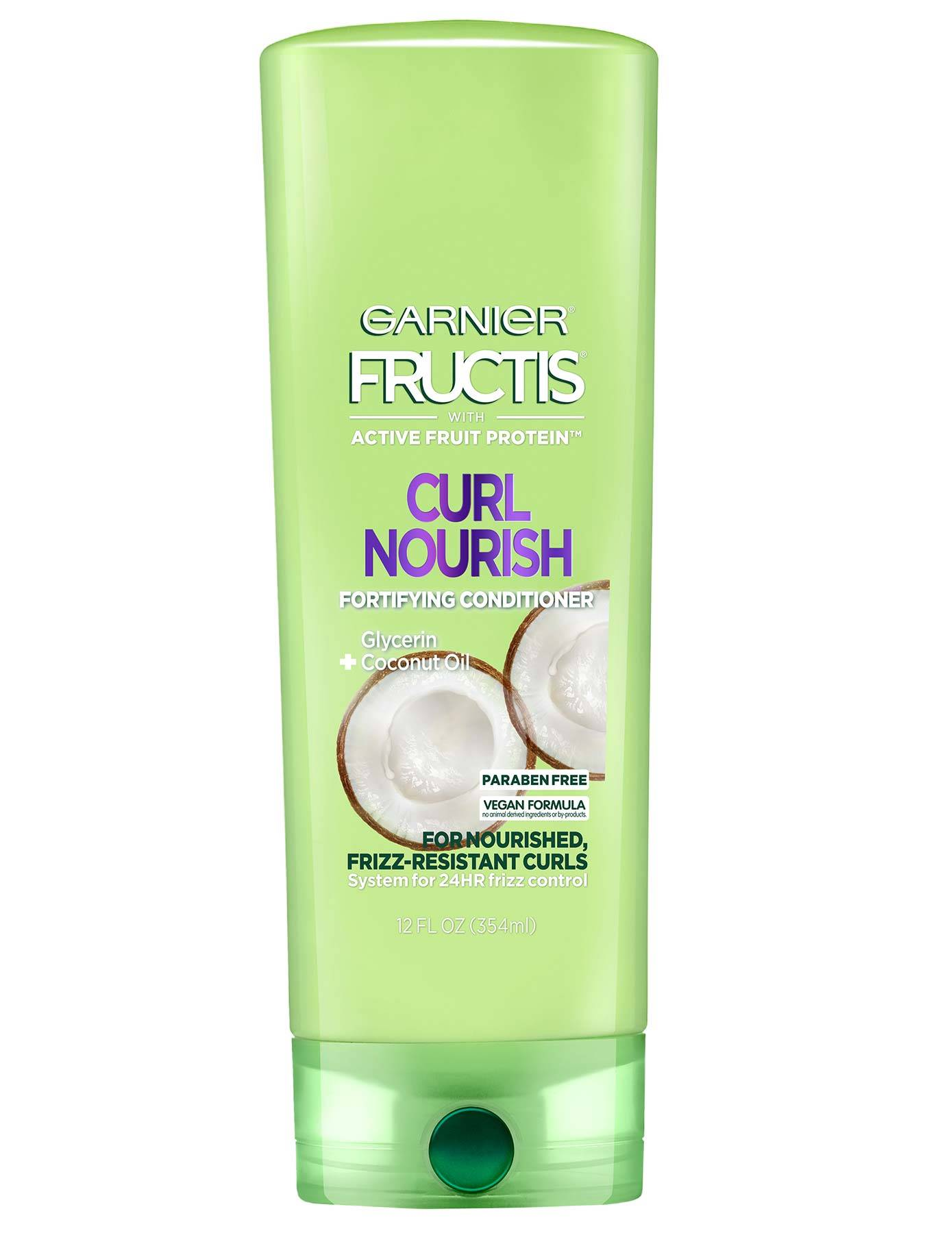 Front view of Curl Nourish Conditioner for Resistant Curls.