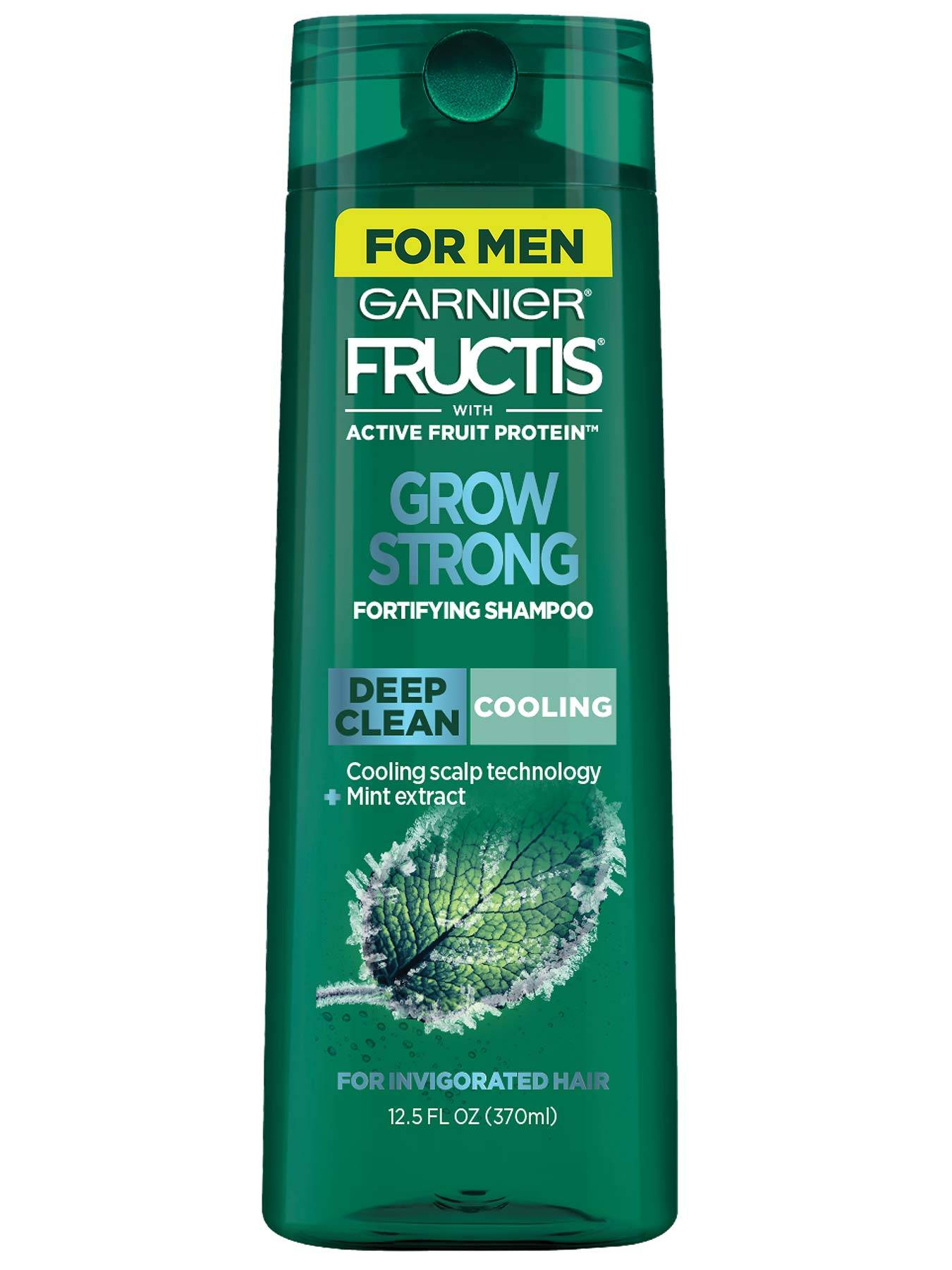 Front view of Grow Strong Cooling Shampoo for Men for Invigorated Hair.