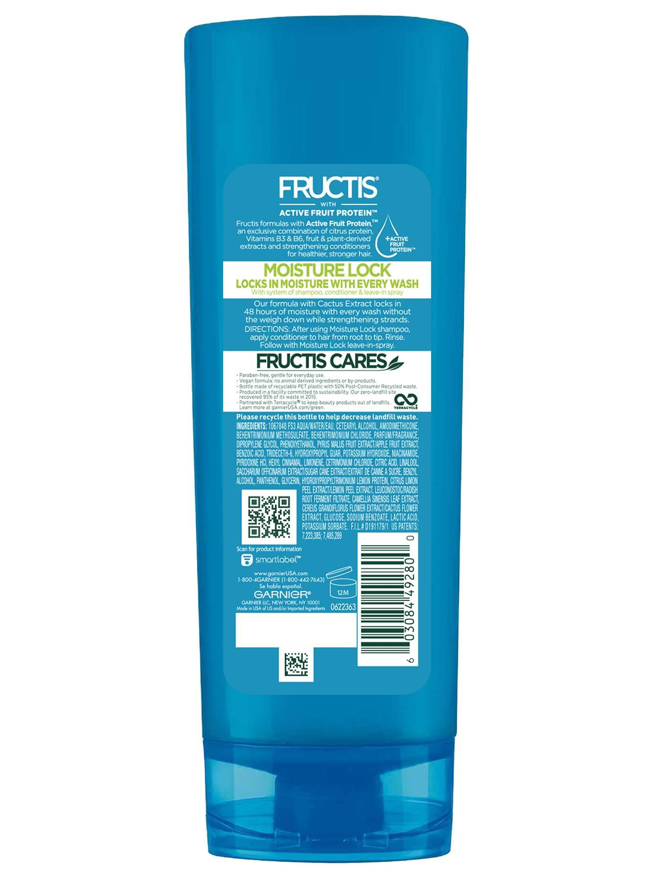 Back view of Moisture Lock Conditioner for Dry Hair.