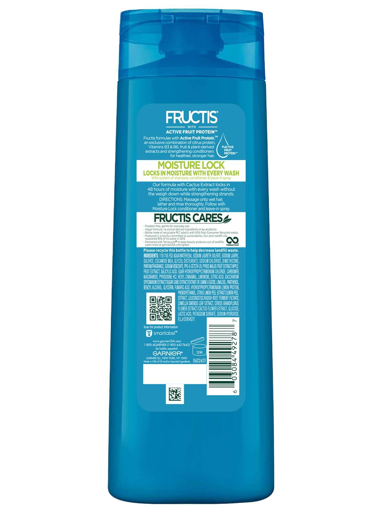 Back view of Moisture Lock Shampoo for Dry Hair.