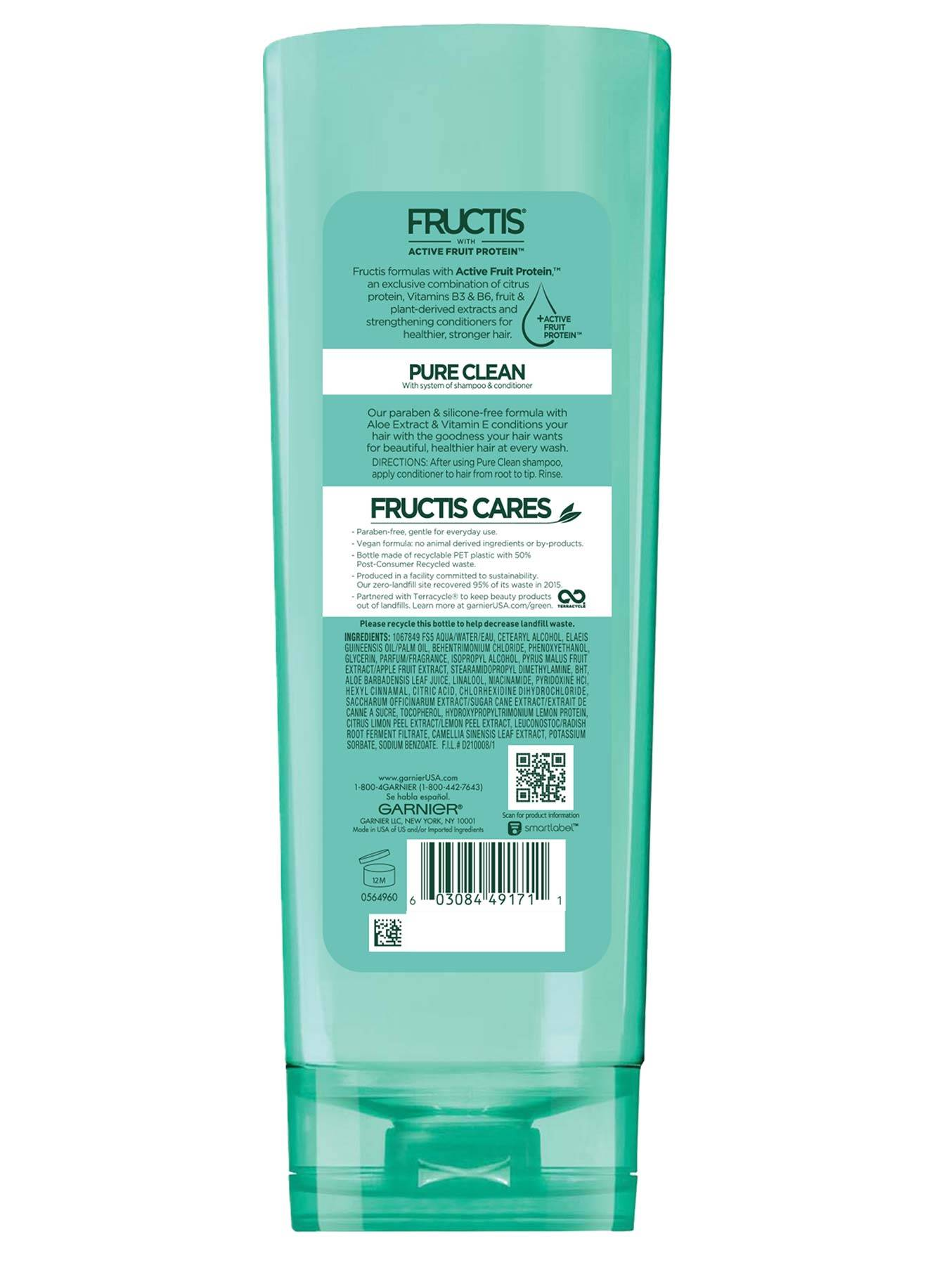 Back view of Pure Clean Aloe Conditioner for Oily Hair.