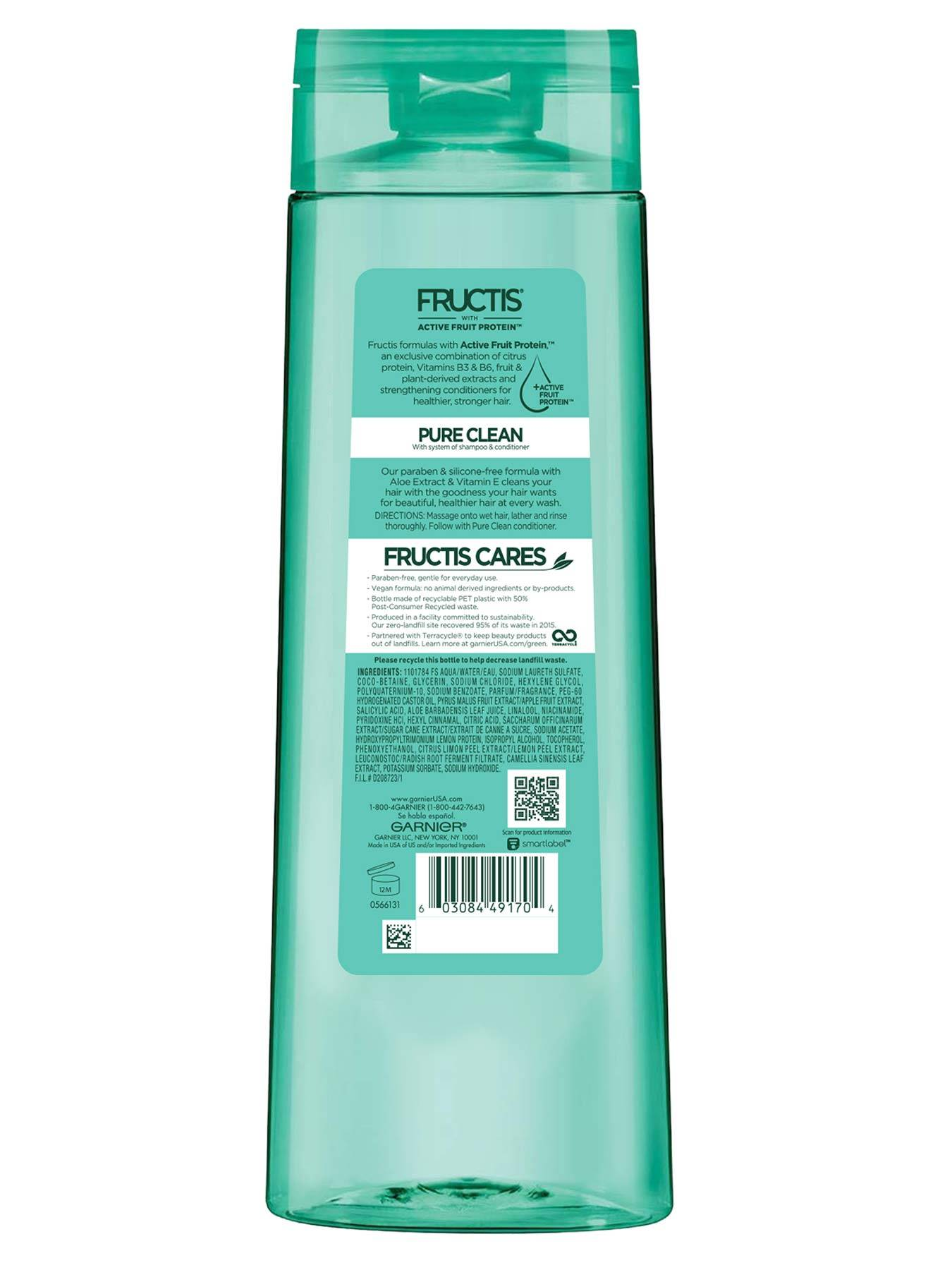 Back view of Pure Clean Aloe Shampoo for Oily Hair.