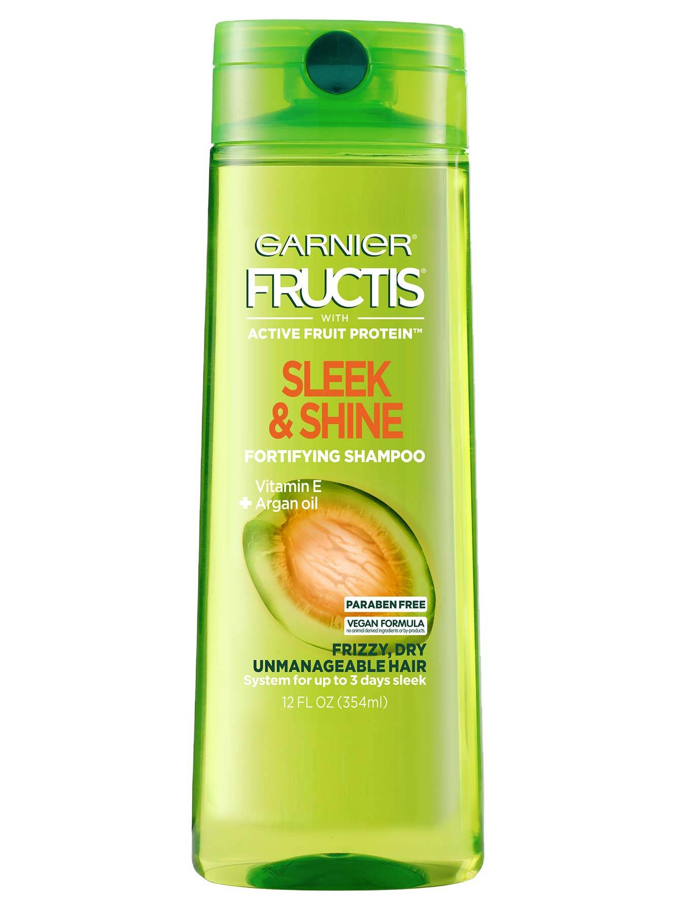 Front view of Sleek and Shine Shampoo for Unmanageable Hair.