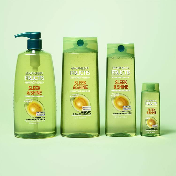 sleek and shine shampoo family - for frizzy hair
