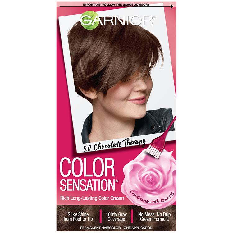 Color Sensation Hair Color 5.0 Chocolate Therapy Medium Natural Brown