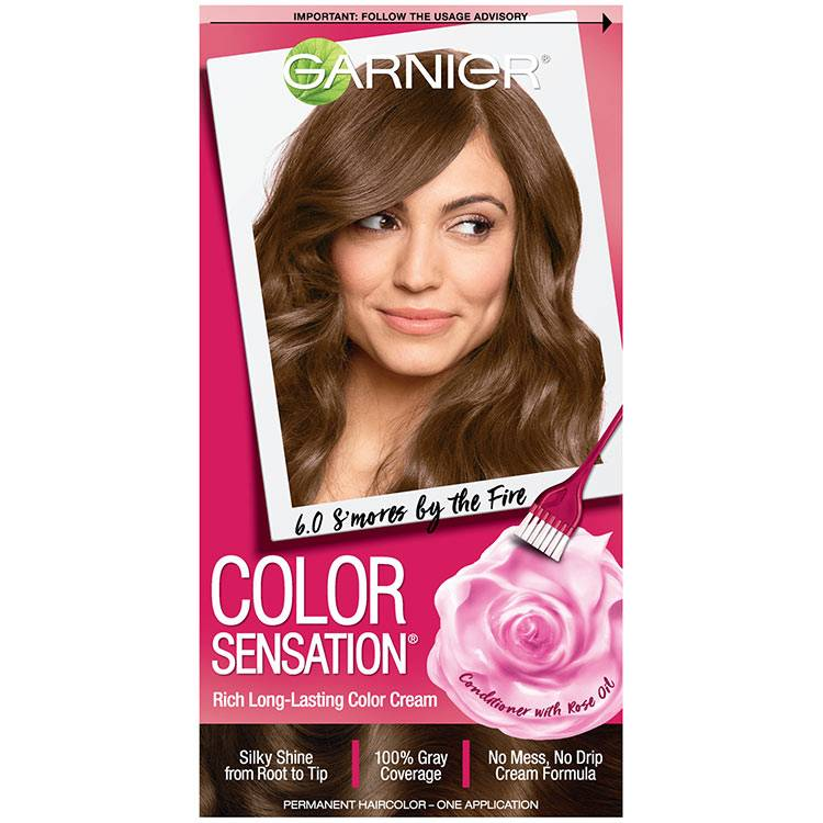 Color Sensation Hair Color 6.0 Smores By The Fire Light Natural Brown