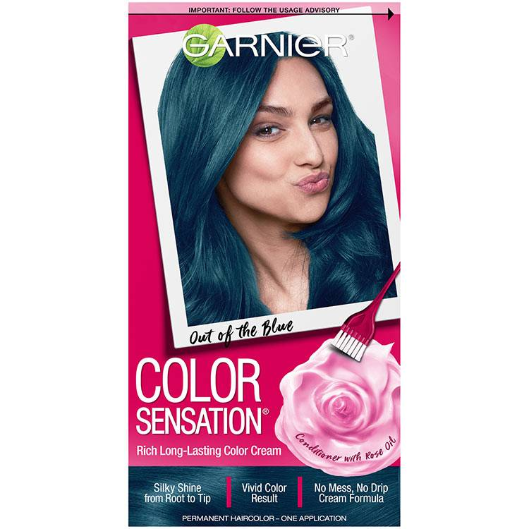 Color Sensation Hair Color 6.17 Out of the Blue Soft Teal Blue