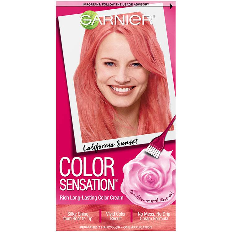 Color Sensation Hair Color 7.26 California Sunset Coral Pink