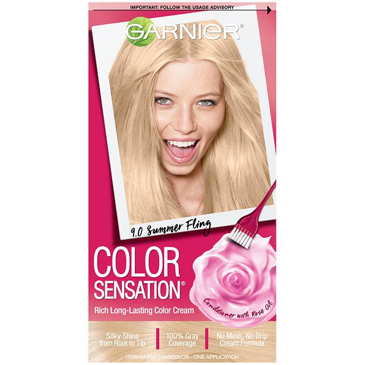 Color Sensation Hair Color 9.0 Summer Fling Light Natural Blonde