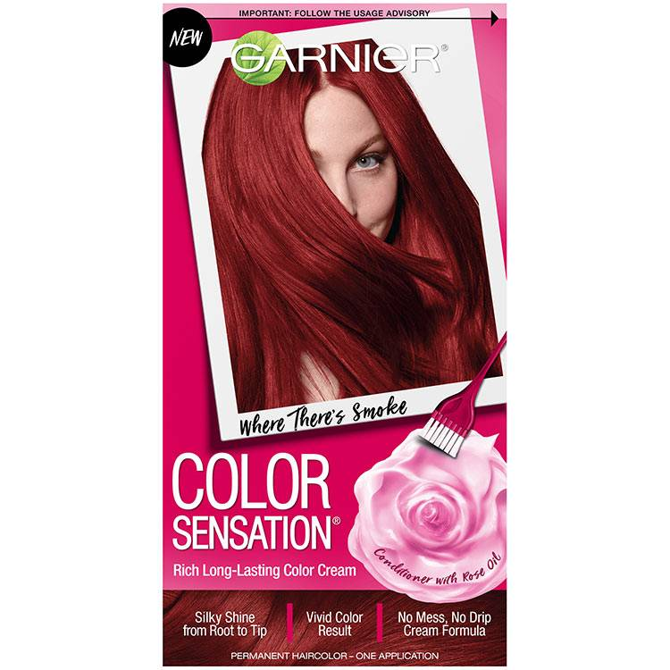 Color Sensation Hair Color 6.60 Where Theres Smoke Intense Fiery Red