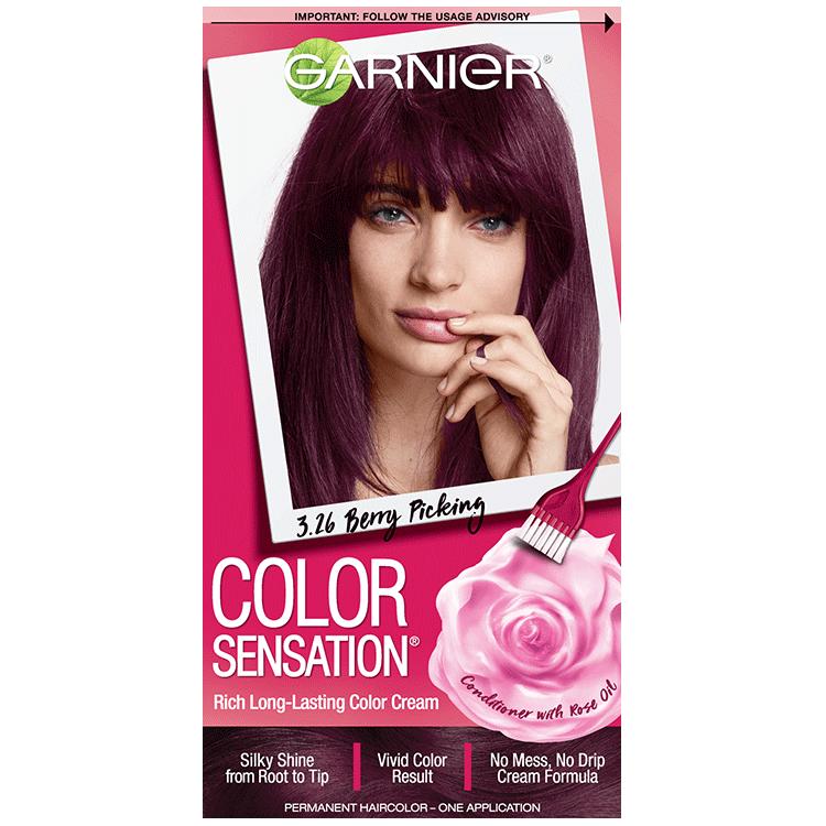 Color Sensation 3 26 Deep Burgundy Hair Color Garnier