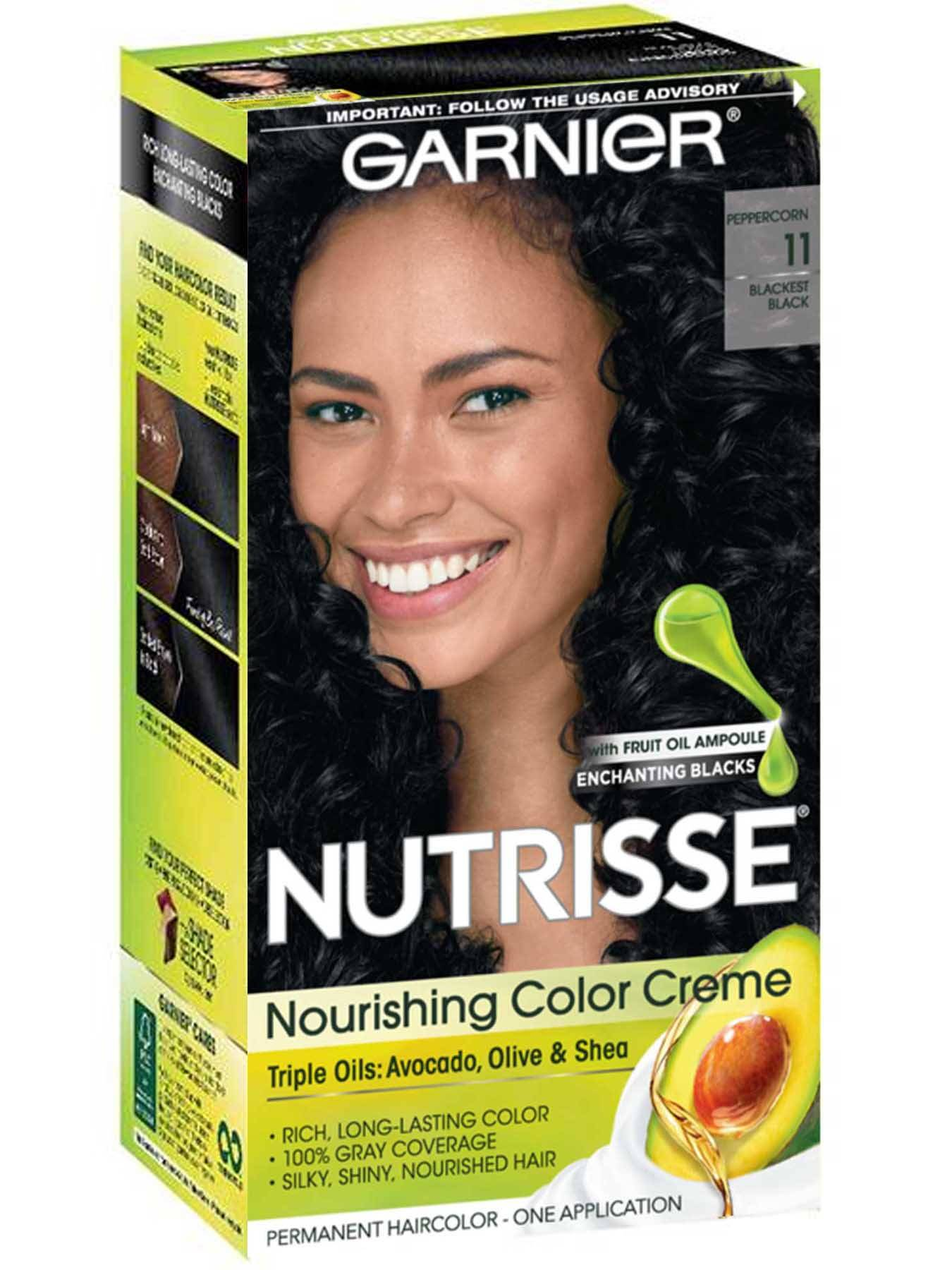 Nourishing Color Creme 11 - Blackest Black Hair Color - Garnier
