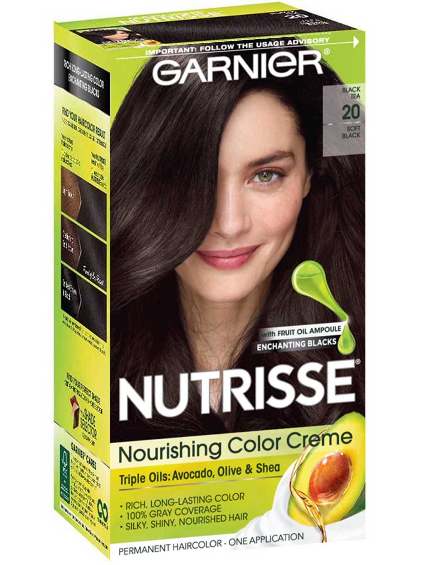 Nutrisse Nourishing Color Creme - Soft Black 20 (Black Tea) - Garnier