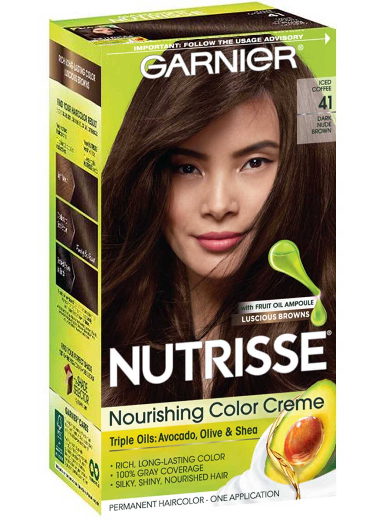 Nutrisse Nourishing Color Creme - Dark Nude Brown Hair Color - Garnier