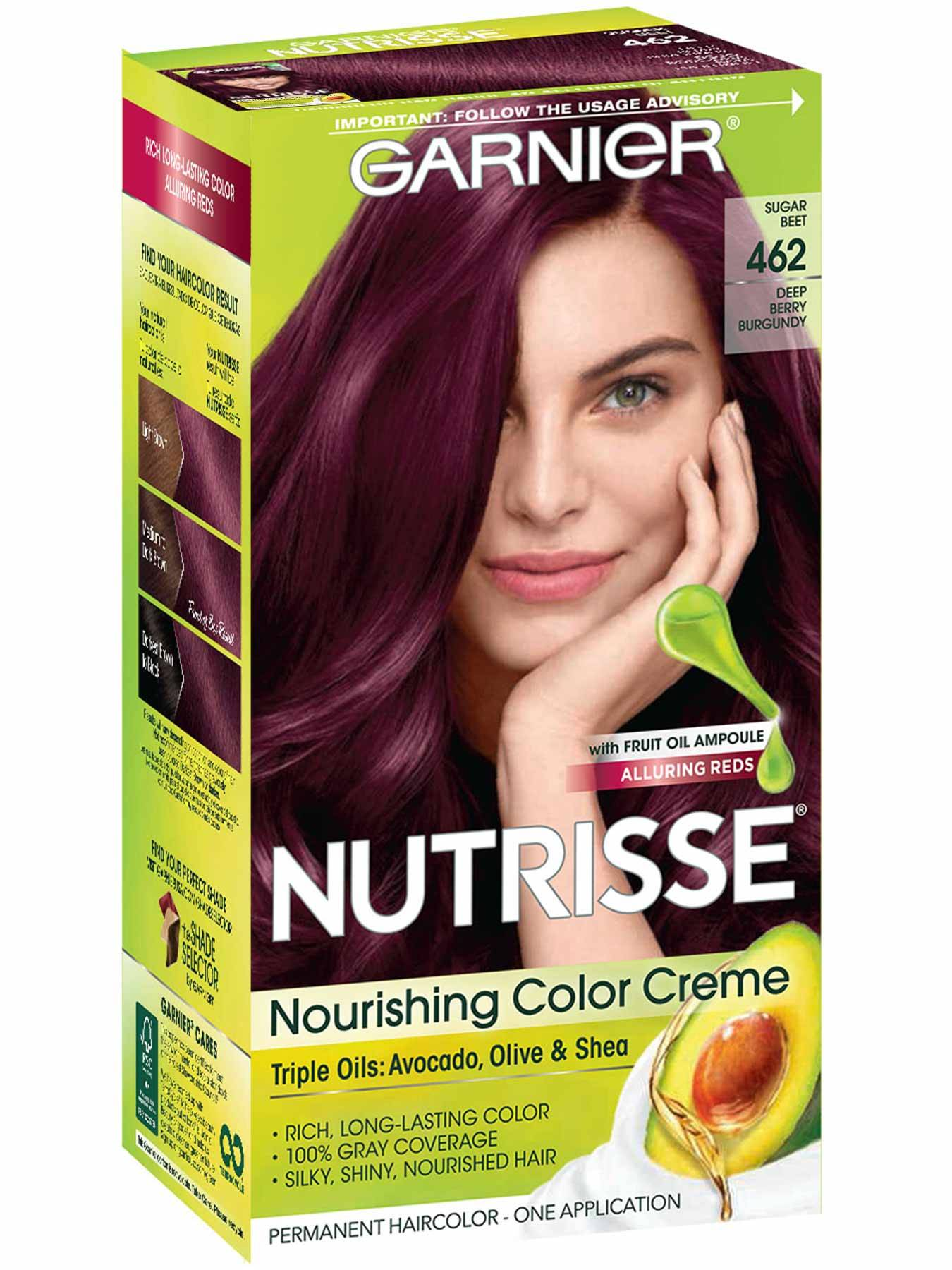 Nutrisse Nourishing Color Creme - Deep Berry Burgundy 462 - Garnier