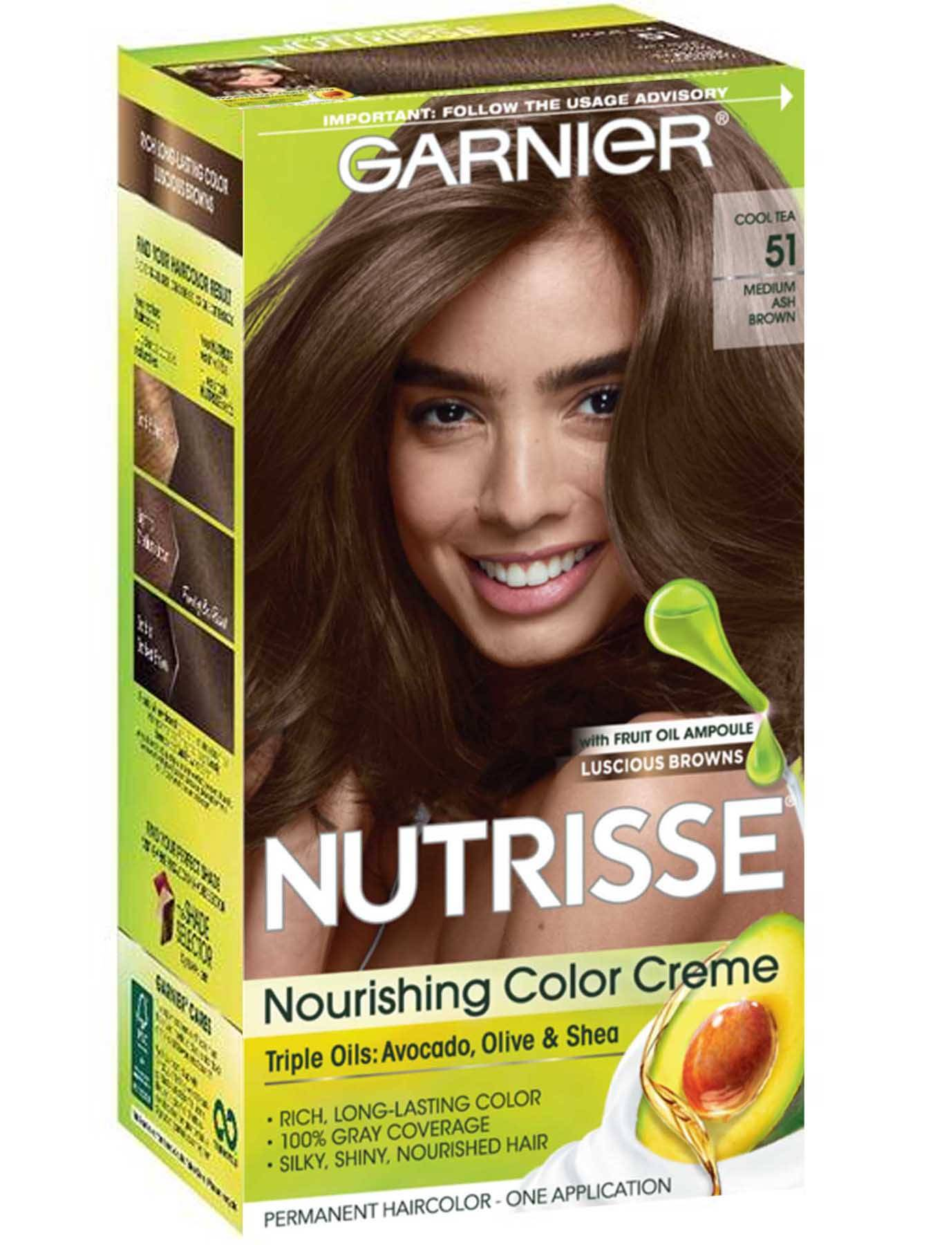 Nutrisse Nourishing Color Creme - Medium Ash Brown 51 - Garnier