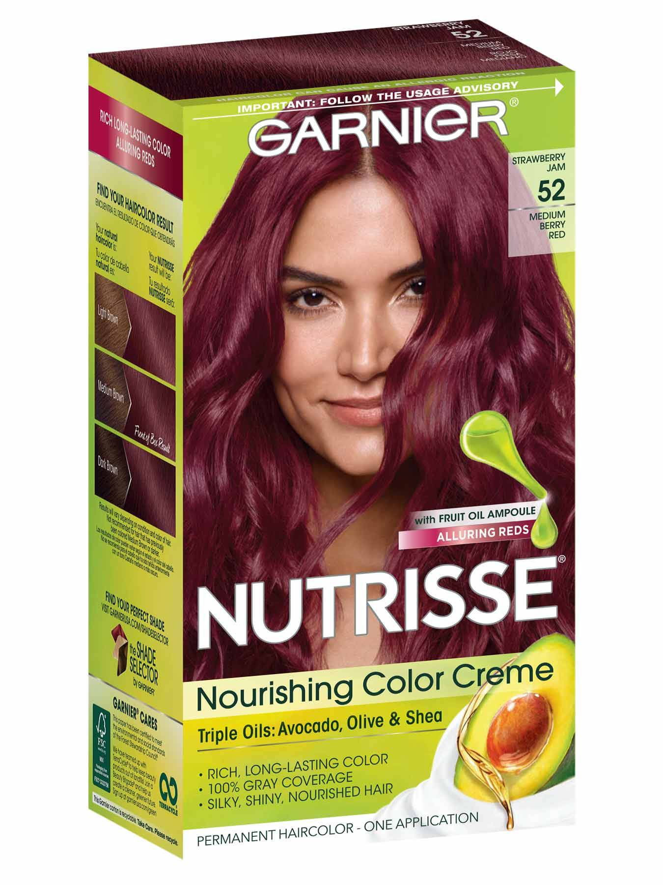 Nutrisse Nourishing Color Creme - Medium Berry Red 52 - Garnier