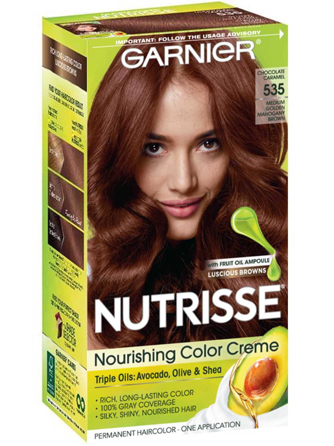 Nutrisse Nourishing Color Creme - Golden Mahogany Brown 535 - Garnier