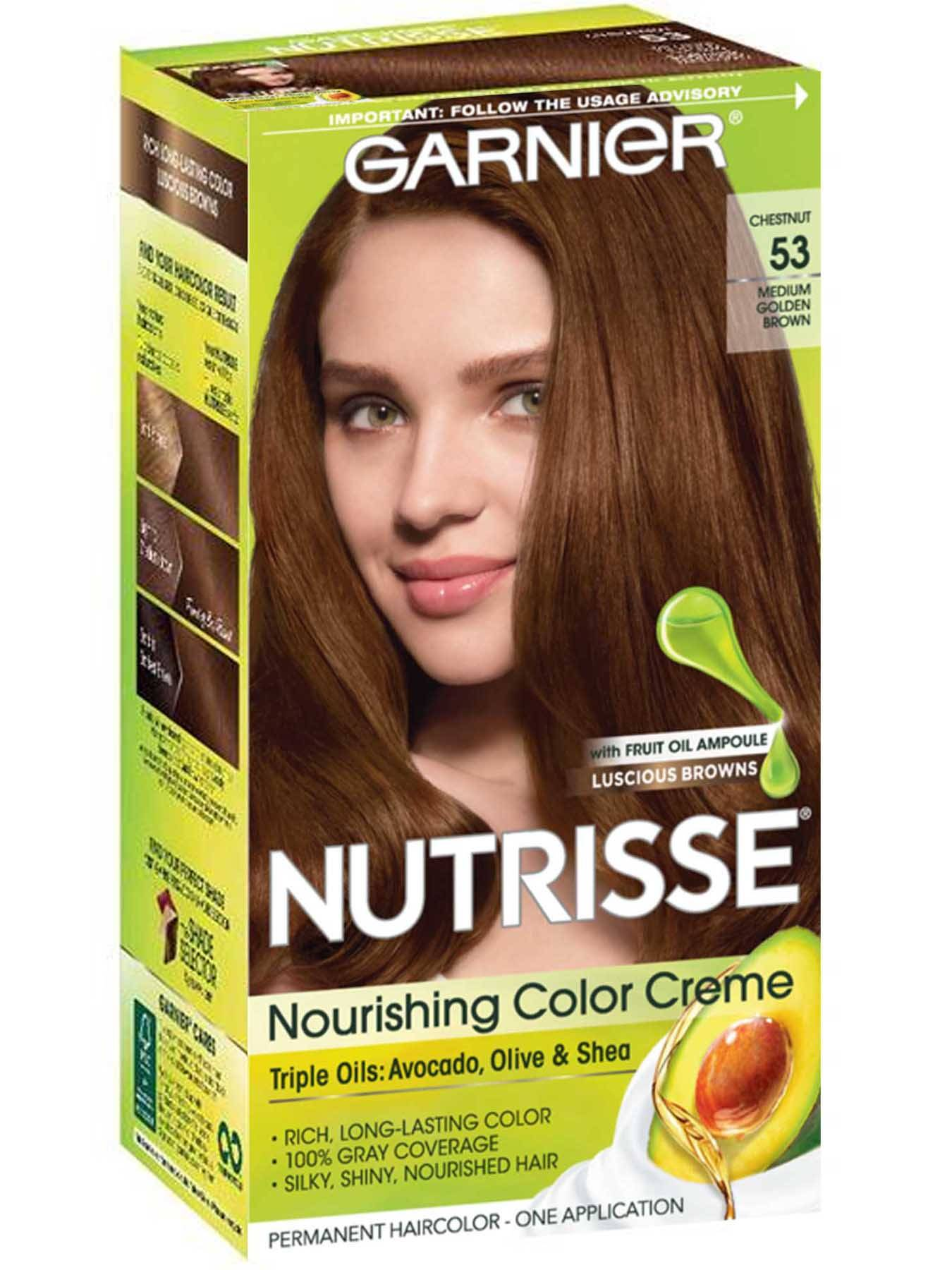 Nutrisse Nourishing Color Creme - Medium Golden Brown 53 - Garnier
