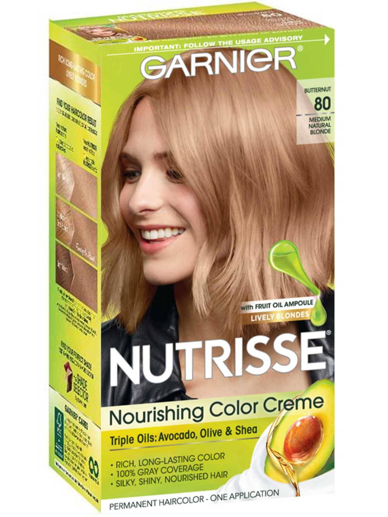 Nutrisse Nourishing Color Creme - Medium Natural Blonde 80 - Garnier