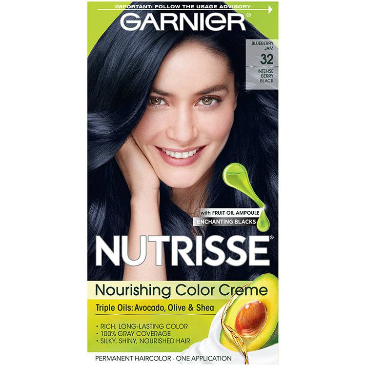 Nutrisse Nourishing Color Creme - Intense Berry Black 32 - Garnier