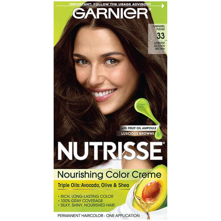 Nutrisse Nourishing Color Creme - Darkest Golden Brown - Garnier