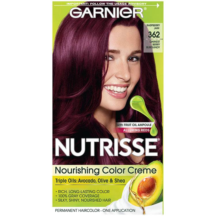 Nutrisse Nourishing Color Creme - Darkest Berry Burgundy 362 - Garnier