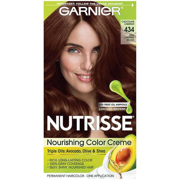 Nutrisse Nourishing Color Creme - Deep Chestnut Brown 434 - Garnier