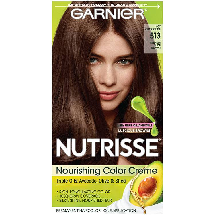 Nutrisse Nourishing Color Creme - Medium Nude Brown 513 - Garnier