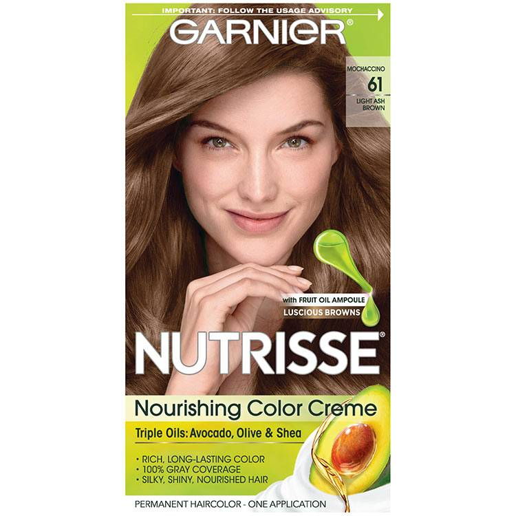 Nutrisse Nourishing Color Creme - Light Ash Brown 61 - Garnier
